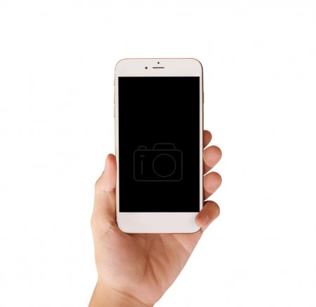 Photo for Touch screen smartphone in hand - Royalty Free Image