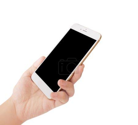 Photo pour Téléphone portable moderne dans la main - image libre de droit