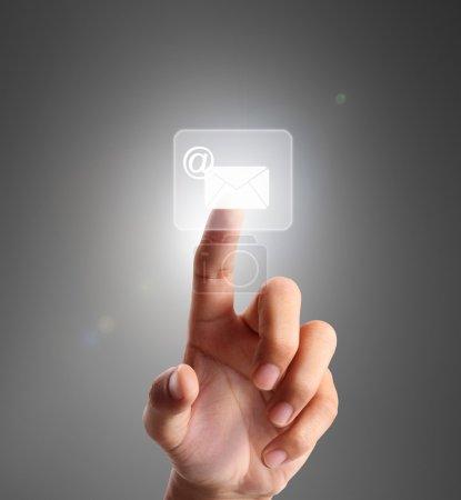 pressing modern social buttons