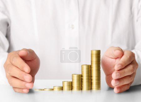 Coin to money, business ideas in hand