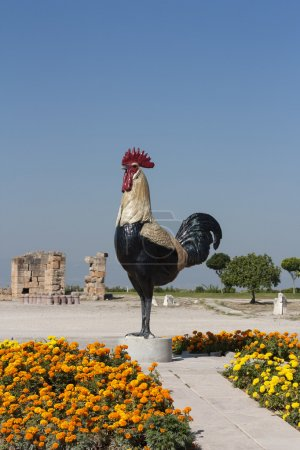 Chicken cock rooster statue at