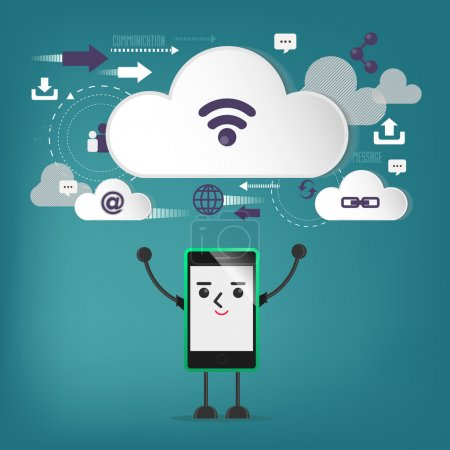 mobile connection, communication ,cloud connection