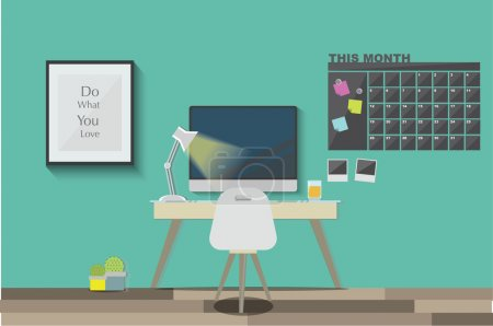 work space vector background