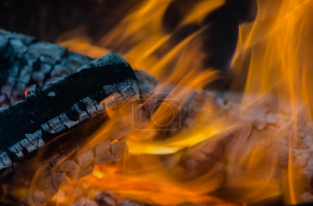 Fire, charcoal, temperature, flame, embers, burning, wood, bonfire, ash, campfire, orange, yellow