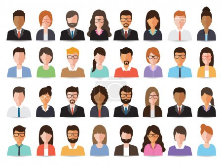 men and women business people icon