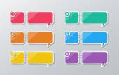 paper speech bubbles infographics