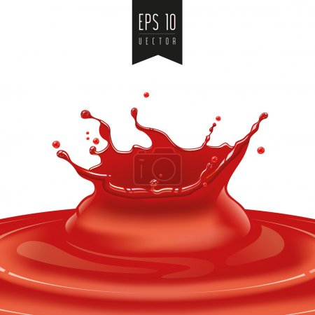 Splash of red fruit vector