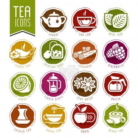 Tea icon set