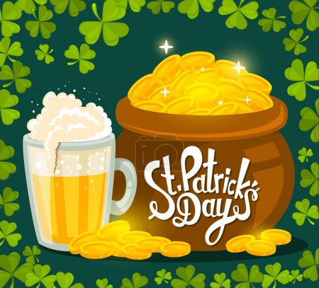 St. Patrick's Day greeting with big pot