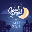 Illustration of wish good night  and sweet dreams ...