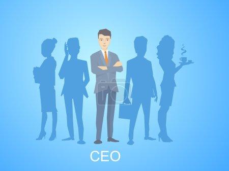 Leader of  businessman