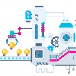 Vector industrial illustration background of the f...