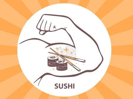 Icon of sushi