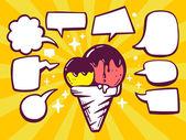 Ice cream with speech  bubbles