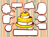 Cake with speech bubbles