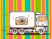 Fast delivering photo camera