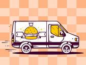 Van a rychlé dodávání burger
