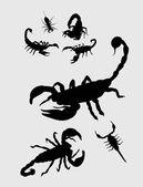 Scorpion Silhouettes art vector design