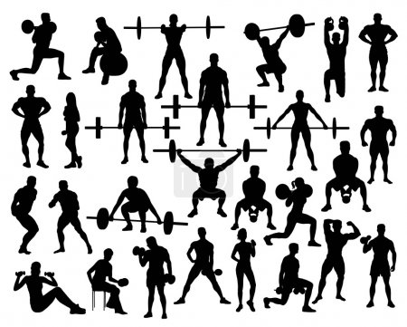 Power Lifting Silhouettes
