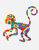 Monkey abstract colorfully