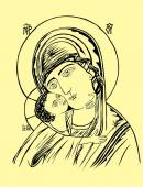 Mother and Child Icon