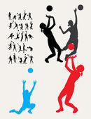 Volleyball Sport Silhouettes