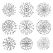 Set of ethnic ornamental floral pattern Hand drawn mandalas Vi