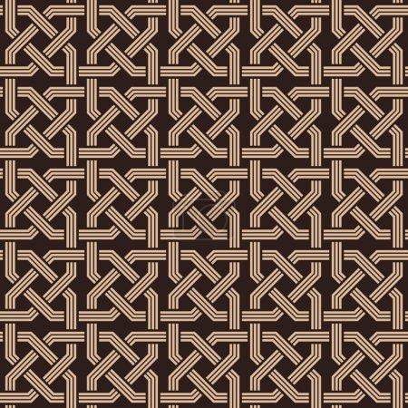 Seamless pattern of knotting ornaments.