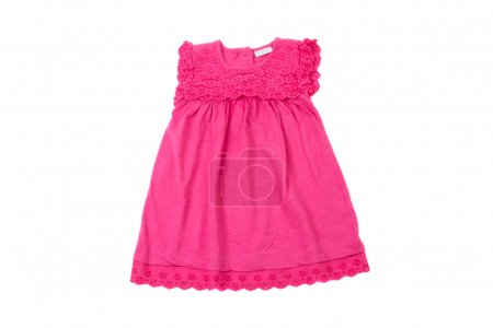 Elegant light pink children summer dress, isolated