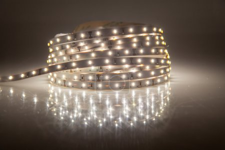 Photo for Glowing LED garland, strip - Royalty Free Image