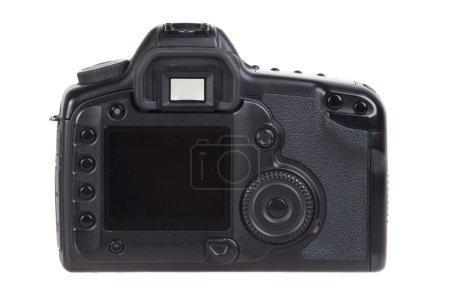 DSLR photo camera isolated on white background