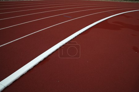 Photo for Red running track - Royalty Free Image