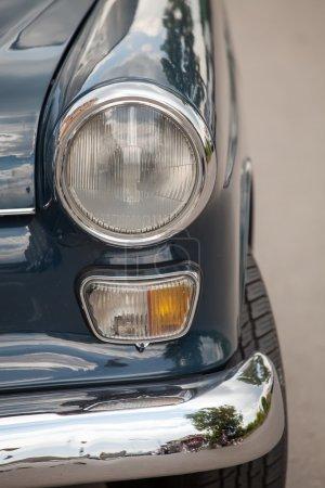 Close up detail of a vintage car