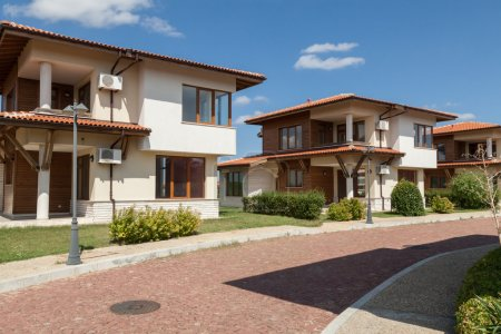 Photo for Suburban houses. Perfect neighborhood - Royalty Free Image