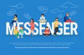 Ilustrace koncept programu Messenger