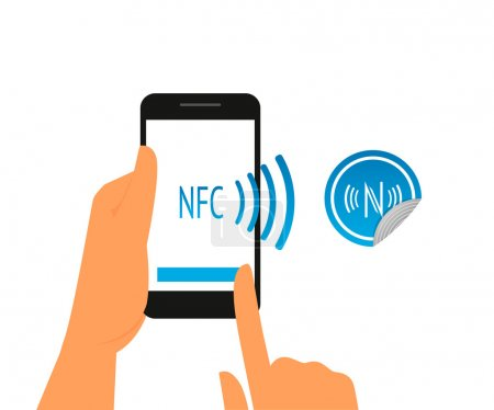Smartphone with nfc function and mobile tag