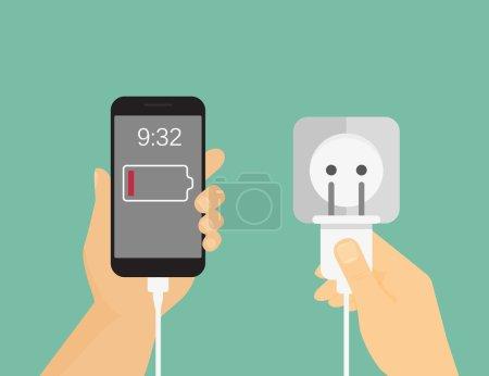 Mobile phone charging process