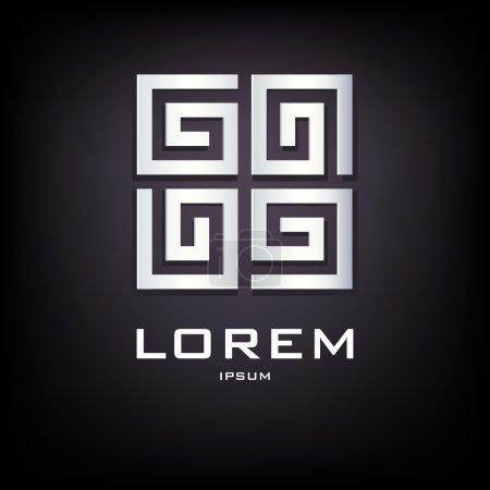 Geometrical silver logo design