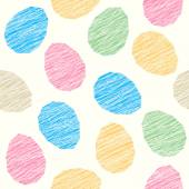 Easter pattern decoration Easter eggs with Scratched texture Seamless vector pattern Stylized background with colorful eggs Seamless holiday backdrop