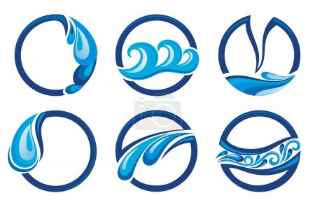 Illustration for Vector symbols of water - Royalty Free Image