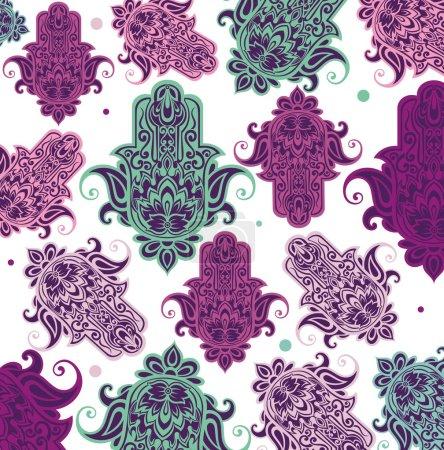 Hamsa illustration card