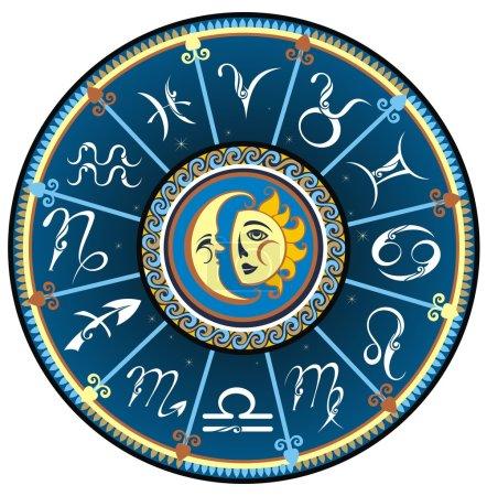 Illustration for Zodiac illustration - Royalty Free Image