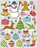 Background with christmas elements  vector illustration
