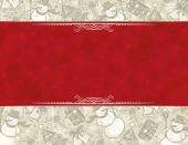 Background with christmas elements vector