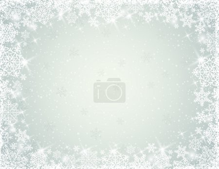 Grey background with snowflakes, vector