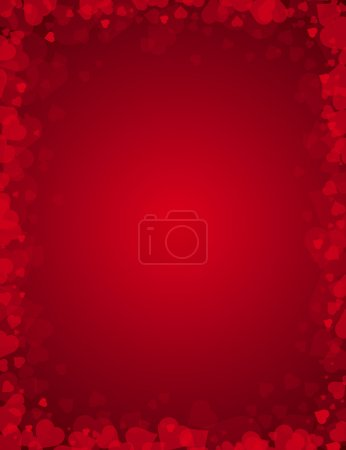 Illustration pour Fond rouge pour la Saint Valentin, illustration vectorielle - image libre de droit