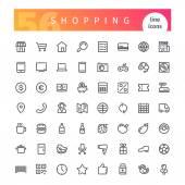Nákupní linka ikony Set