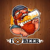 Man Loves Beer Poster Clipping paths included in additional jpg format