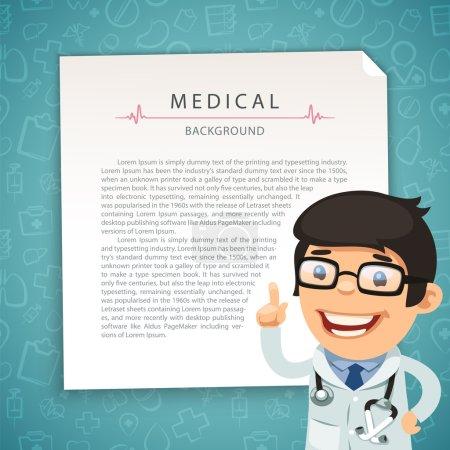 Illustration pour Aquamarine antécédents médicaux avec le docteur. Dans le fichier EPS, chaque élément est regroupé séparément. Couper les chemins inclus dans le format jpg supplémentaire - image libre de droit