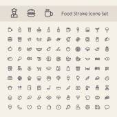 Set of Stroke Food Icons